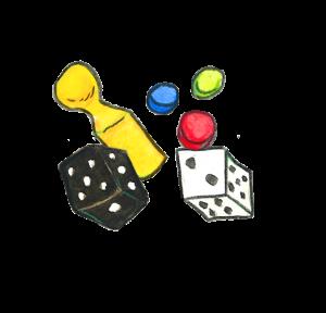 Kleine icoon famiie en spel